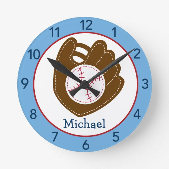 Baseball Baby Boy Nursery Wall Clock
