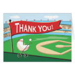 Baseball Baby Carriage Thank You Card