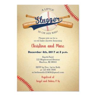 Baseball Baby Shower Invitations - Little Slugger