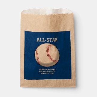 Baseball Bachelor Party Favor Bags
