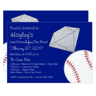 Baseball Bachelorette Party Invite- Last Swing Card