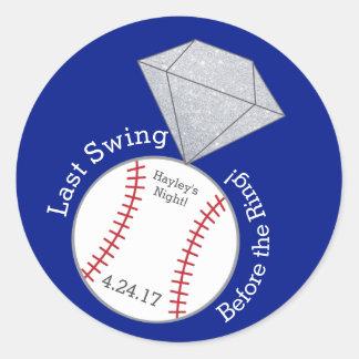 Baseball Bachelorette Sticker- Last Swing Classic Round Sticker