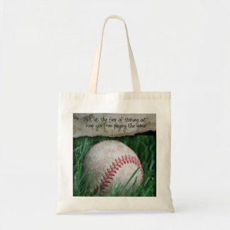 Baseball Bag with Quote