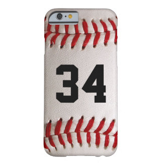 Baseball Ball and Number Barely There iPhone 6 Case