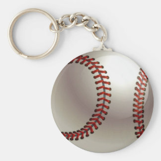 Baseball Ball Basic Round Button Keychain