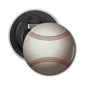 Baseball (ball) button bottle opener
