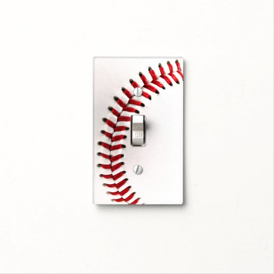 Baseball ball light switch cover