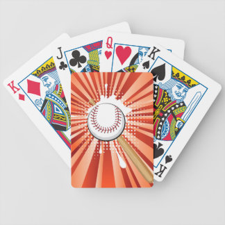 Baseball Ball on Background with Rays Bicycle Playing Cards