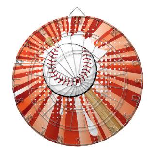 Baseball Ball on Background with Rays Dartboard