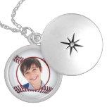 baseball  ball photo frame necklace