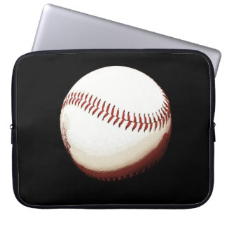 baseball ball - poster style -laptop bag laptop computer sleeves
