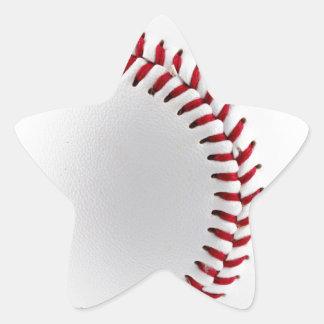 Baseball ball star sticker