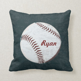 Baseball ball - vintage styled throw pillows