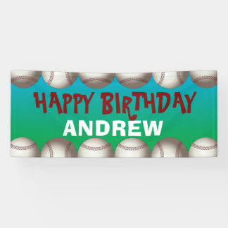 Baseball banner for birthday or any occasion