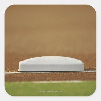 Baseball base square sticker