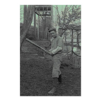 Baseball Bat Photography Vintage Father's Day Poster