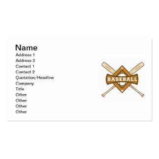 Baseball Bats and Ball T-shirts and Gifts Business Card Template