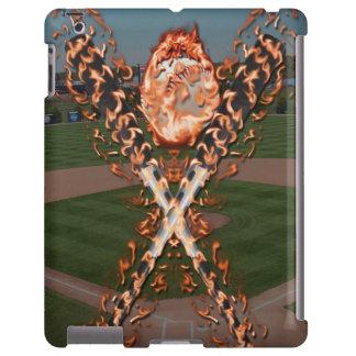 Baseball bats on fire
