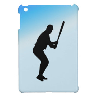 Baseball Batter Blue Sports Case For The iPad Mini