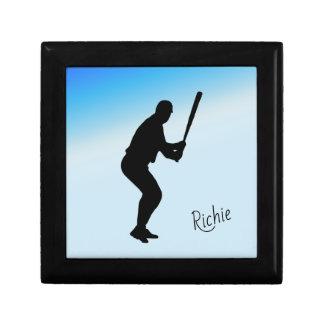 Baseball Batter Blue Sports Gift Box