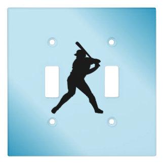 Baseball Batter Blue Sports Light Switch Cover