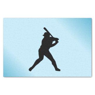 Baseball Batter Blue Sports Tissue Paper