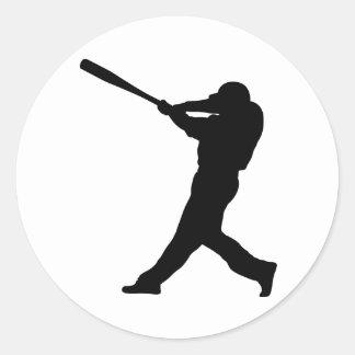 Baseball Batter Classic Round Sticker