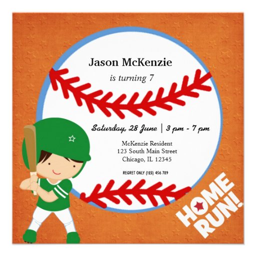 Baseball Batter Invitation