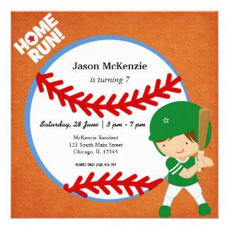 Baseball Batter Personalized Invitation