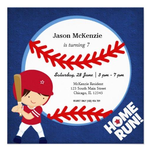 Baseball Batter Personalized Invites