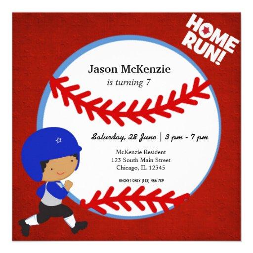 Baseball Batter Invitations