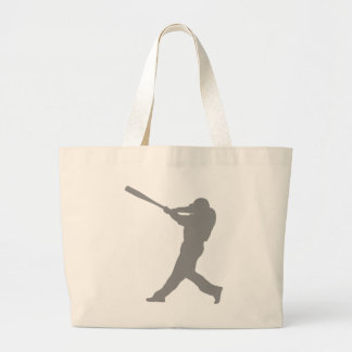 Baseball Batter Large Tote Bag