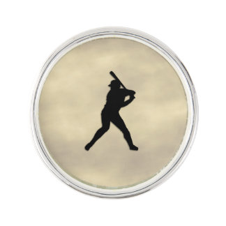Baseball Batter Up Lapel Pin