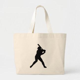 Baseball Batter Up Large Tote Bag
