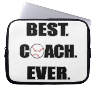 Baseball Best Coach Ever Laptop Computer Sleeve