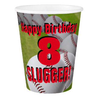 Baseball Birthday - custom PAPER CUPS Paper Cup