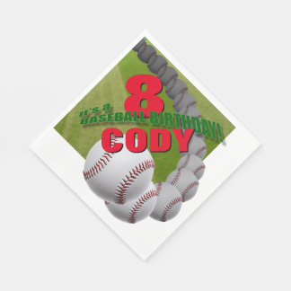Baseball Birthday - custom PAPER NAPKINS