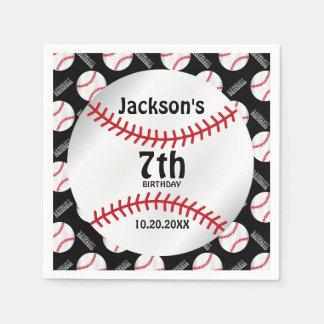 Baseball Birthday Design | Personalize Disposable Napkins