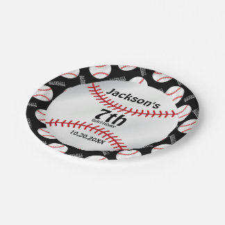Baseball Birthday Design | Personalize Paper Plate
