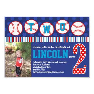 Baseball Birthday Invitation (2nd Birthday)