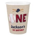 Baseball Birthday Paper Cup Baseball 1st Birthday
