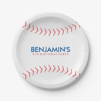 Baseball Birthday Party 7 Inch Paper Plate