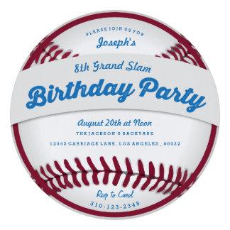 Baseball Birthday Party Invitation Custom Invite
