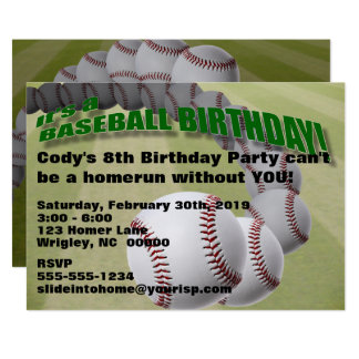 Baseball Birthday! PARTY INVITATION