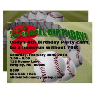 Baseball Birthday! PARTY INVITATION