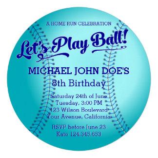 Baseball Birthday Party Invitation Custom Invites