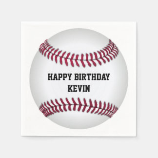 Baseball Birthday Party Paper Napkins