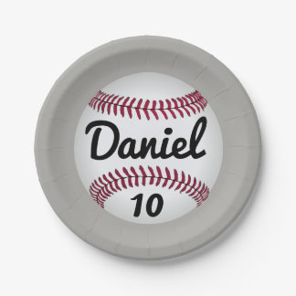 Baseball birthday Party plates