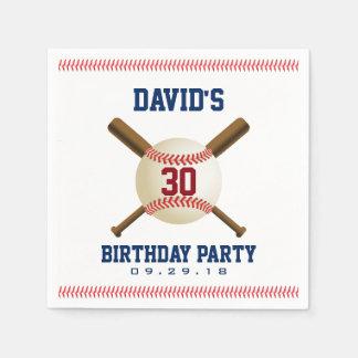 Baseball Birthday Party Sports Theme Paper Napkins