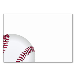 Baseball Birthday Party Supplies Card